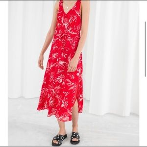 & Other Stories Red Printed Summer Dress